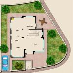 مخطط الطابق الارضي