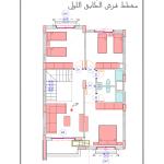 مخطط الطابق الاول