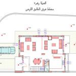 مخطط الطابق الارضي للفيلا رقم 7