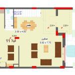 مخطط الطابق الارضي لفيلا 11