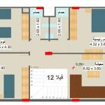 مخطط الطابق الاول لفيلا 12