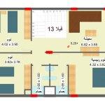 مخطط الطابق الاول لفيلا 13