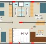 مخطط الطابق الاول لفيلا 14