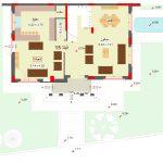 مخطط الطابق الارضي لفيلا 15