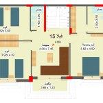 مخطط الطابق الاول لفيلا 15