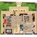 مخطط الطابق الارضي لفيلا رقم 7