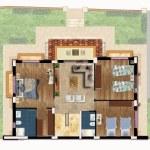 مخطط الطابق الارول لفيلا رقم 7