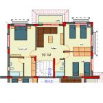 مخطط الطابق الاول لفيلا 10